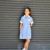KNTC School Kids Uniform girls Check Summer Dress White Blue School Uniform Online Shop
