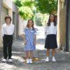 KNTC School Kids Uniform summer Check Dress Long Sleeve Polo Navy Blue Skirt Academic Pant Online Shop