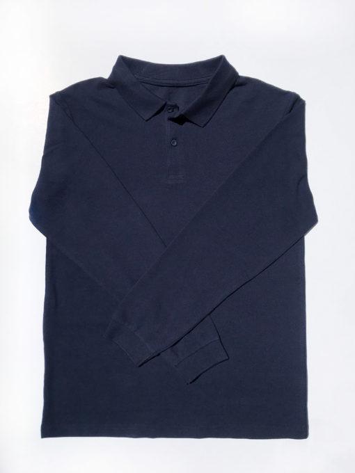 KNTC School Kids Uniform Long Sleeve Polo top Navy