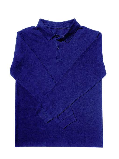 KNTC Long Sleeve polo shirt Kids uniform Royal Blue