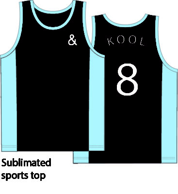 KNTC Kids School Uniforms Sublimated Sports Top