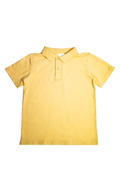 Classic Short Sleeve Polo Shirt Kool and the Crew Yellow Gold Polo Top Kids