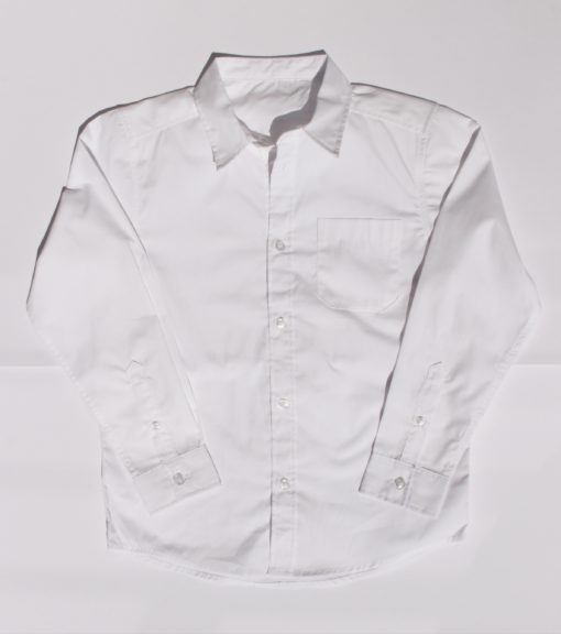 KNTC School Kids Uniform White Long Sleeve Top