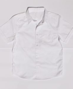 KNTC School Kids Uniform White Shirt Short Sleeve Top
