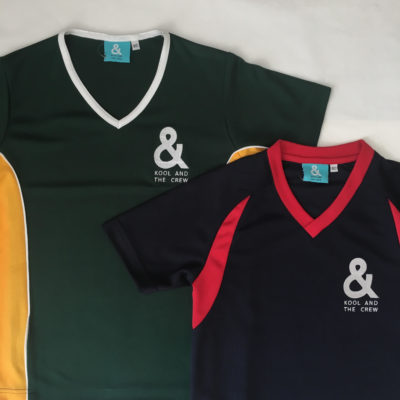 Custom made embroidered printed Jersey shirt kool and the crew promotional merchandise