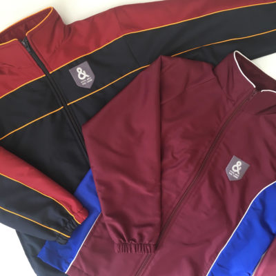 Custom made embroidered printed Jacket kool and the crew promotional merchandise