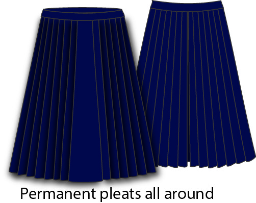 KNTC Kids School Uniforms Pleats Skirts