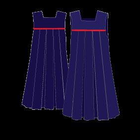 KNTC Kids School Uniforms Tunic Dress Yoke with Piping